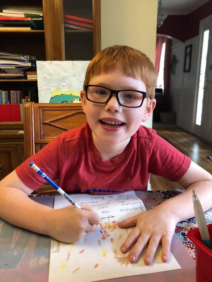 Writing a story with my oldest son is one way I balance my work and home life.